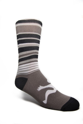 Fancy Men's Stripe Black/Grey/White