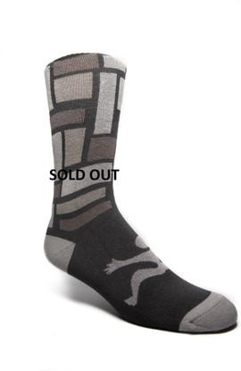 Fancy Socks Men's Geometric Black/Grey/White