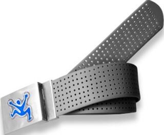 Perforated Belt CJ Logo Coal Black