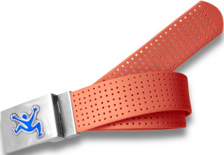 Perforated Belt CJ Logo Tangerine
