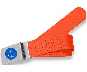Anchor Logo- Tangerine Perforated