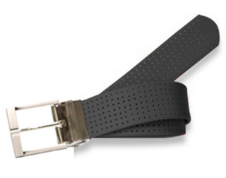 Perforated Belt Basic Prong Buckle Coal Black