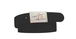 Perforated Belt Sailboat Logo Coal Black