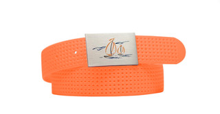 Sailboat Logo- Tangerine Perforated