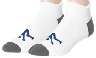 Ankle Sport Socks White/ Grey