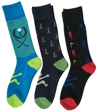 Men's 3 pack Golf Motif socks