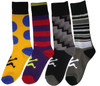 4 pack assorted fancy casual socks