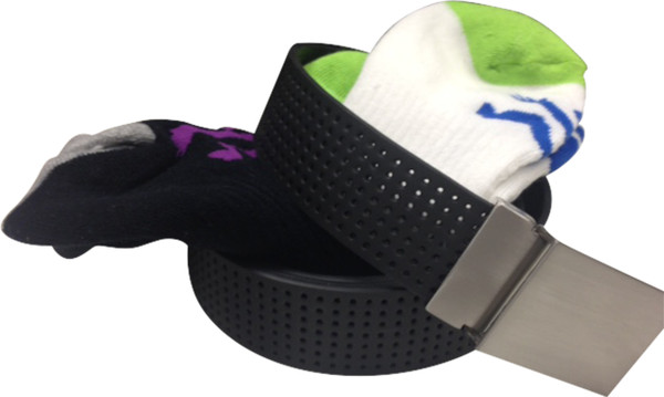 Belt with 2 pair low cut socks
