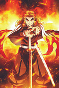 Demon Slayer - Pillar Rengoku Wall Scroll