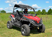 SuperATV '14+ CF Moto ZForce 800 EX Flip Out Windshield