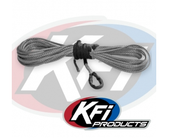 "KFI 1/4"" Synthetic 50' UTV Winch Cable (Smoke)"