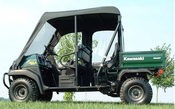 Over Armour Kawasaki Mule 3010 Trans Vinyl Windshield/Top Combo