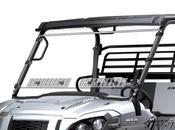 Spike Kawasaki Mule Pro-FXR Full Scratch Resistant Windshield W/Dual Vents