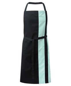 Alexandra contrast bib apron with pocket