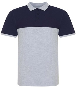 AWDis Colour Block Piqué Polo Shirt