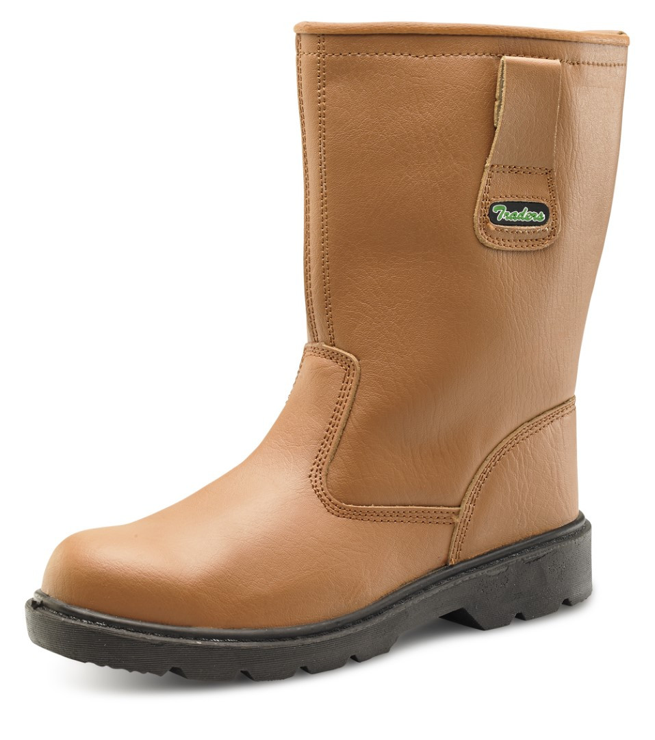 1956239882f Click workwear mens anti slip/static leather safety rigger work boot