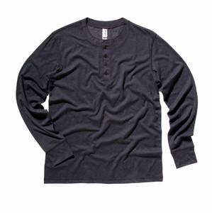 Canvas Men's Henley Cotton Long Sleeve T Shirt