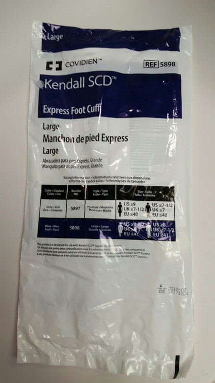 Kendall 5898 Foot Sleeve, size large