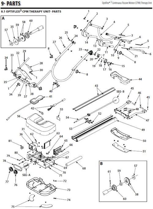 Chattanooga OptiFlex 3 Parts Diagram