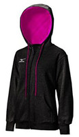 Mizuno Womens Fleece Full Zip Hoodie
