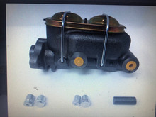 Master cylinder dual port with hardware