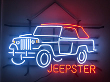 Jeepster Commando Convertible neon 3/4 view
