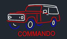Jeep commando Neon sign