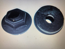 """PRODUCT DESCRIPTION Emblem nut fastener 1/8"""" thread cutting nut with sealer that may be used on various Jeep, Plymouth and Dodge cars & trucks. These nuts are used on 1/8"""" diameter smooth studs. They have a 5/16"""" hex and a 9/16"""" diameter flange. Each nut comes with a mastic type sealer. Emblem nut fastener 1/8"""" thread cutting nut with sealer that may be used on various Jeep, Plymouth and Dodge cars & trucks. These nuts are used on 1/8"""" diameter smooth studs. They have a 5/16"""" hex and a 9/16"""" diameter flange. Each nut comes with a mastic type sealer."""