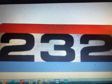 commando 232 decal