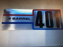 Decal 401 4 barrel