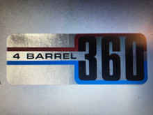 Decal 360 4 barrel