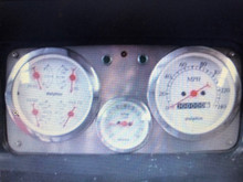 3 Hole dash panel loaded with gauges, black or white faces available