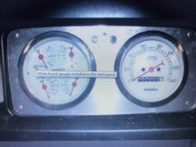 2 hole dash panel loaded with gauges, black or white faces available