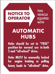 automatic hub sticker original