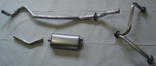 Jeepster Commando Exhaust Single 66-71 Stainless