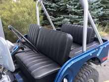 completed CJ 5 CJ6 pleated jeep replacement covers.