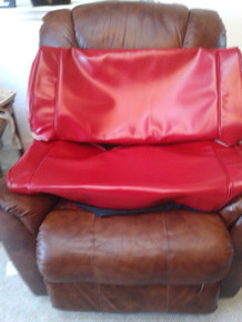 rear seat cover plain black red standard color