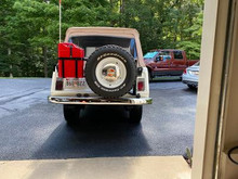 tire and gas can carrier original  Kayline style swing out