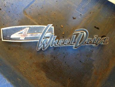 4 wheel drive emblem