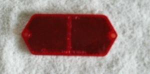 Lens, red rear reflector