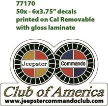 jeepster commando club sticker JCCA