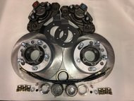 Disc brake conversion kit, deluxe Dana 30 open knuckle
