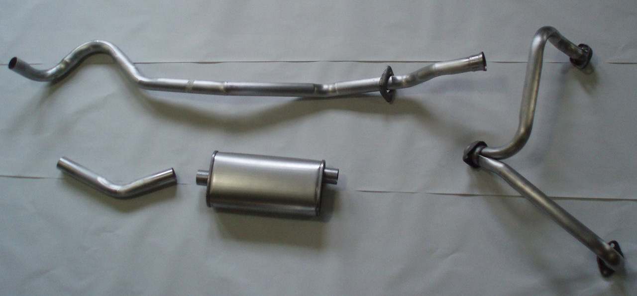 1966 71 Jeep Universal V6 Aluminized Steel Single Exhaust