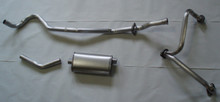 1966-71 Jeep Universal V6 Aluminized Steel Single Exhaust
