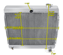 1966-1971 Jeepster Commando Radiator 3 Row