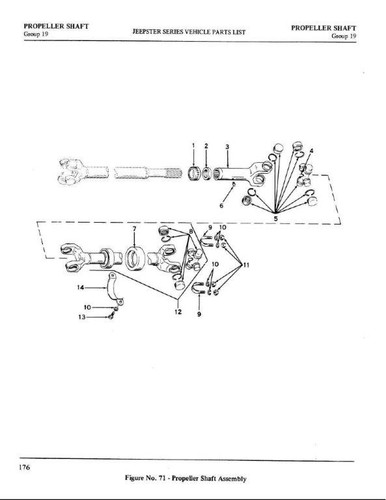 Carrier bearing drive shaft front Jeepster 66-71