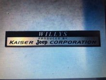 Willys Kaiser Jeep Corporation decal