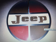 Jeep Medallion, Aluminum backed