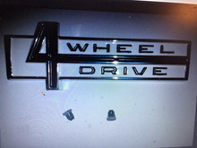 4 Wheel Drive emblem for cowl with hardware