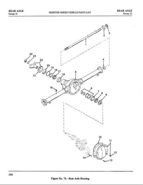 Axle shaft bearing cup/Dana 20 rear output housing inner